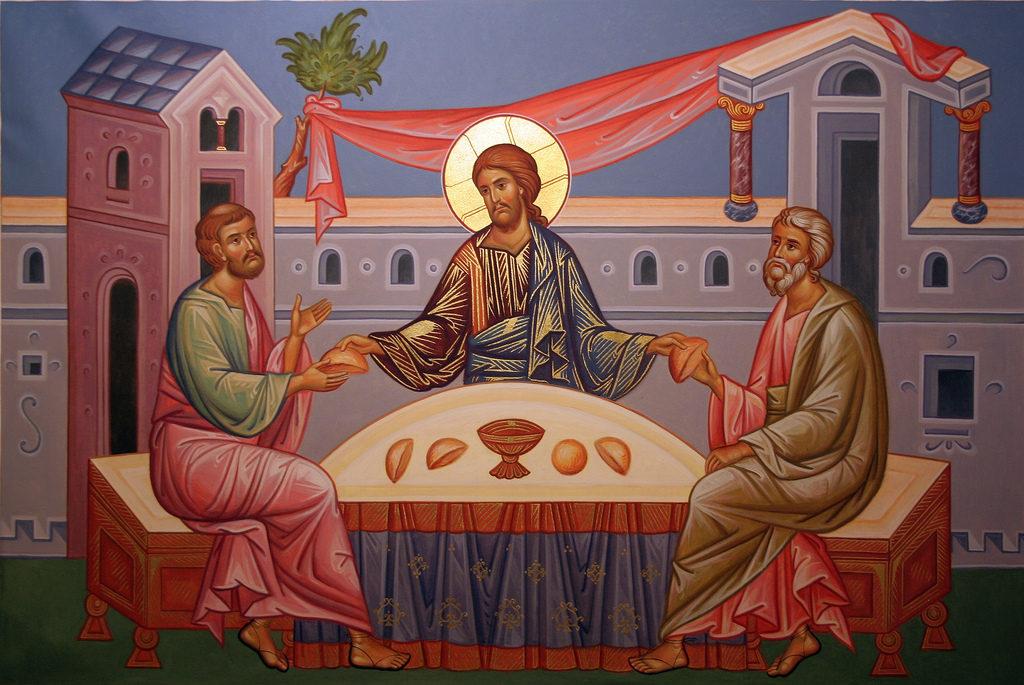 Breaking of bread at Emmaus