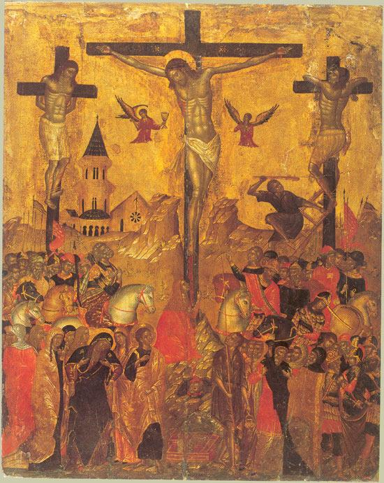 Icons of crucifixion of Jesus