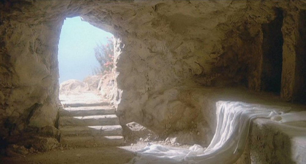 The empty tomb of Jesus Christ