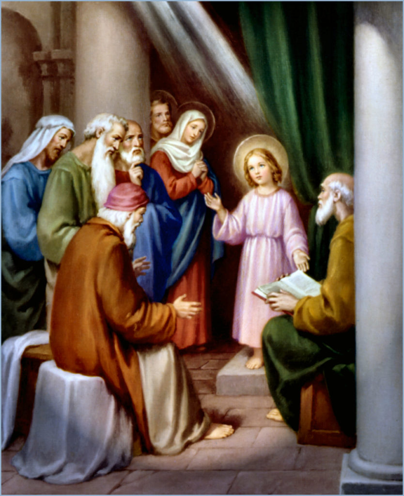 child Jesus in the temple