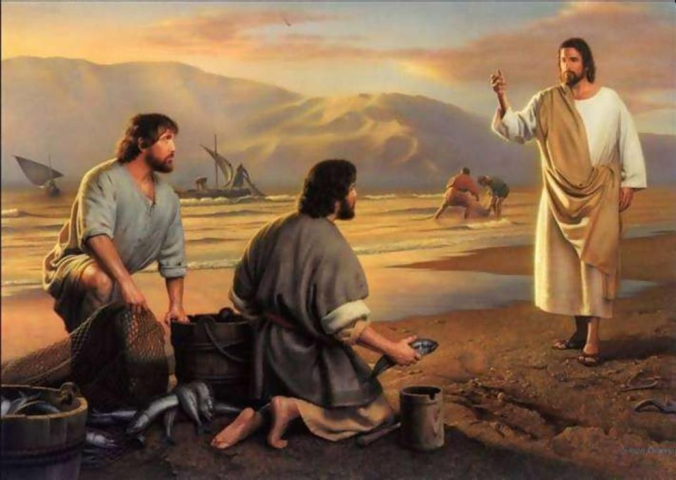 Jesus calls Andrew and Simon