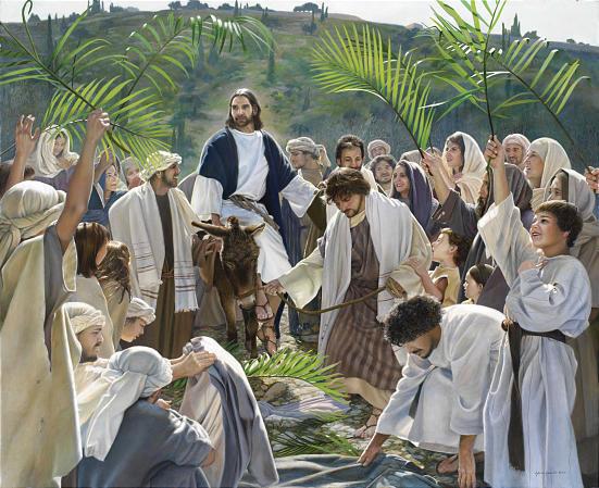 Palm Sunday Jesus enters Jerusalem