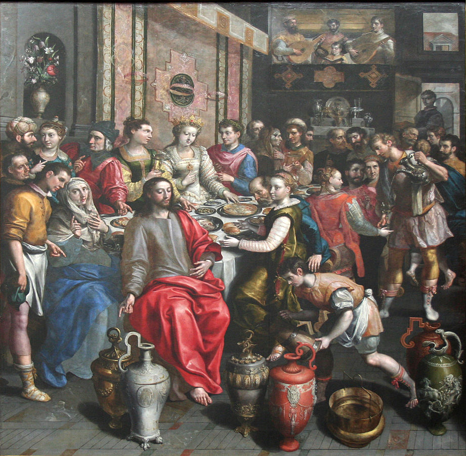 The Marriage at Cana by Marten de Vos