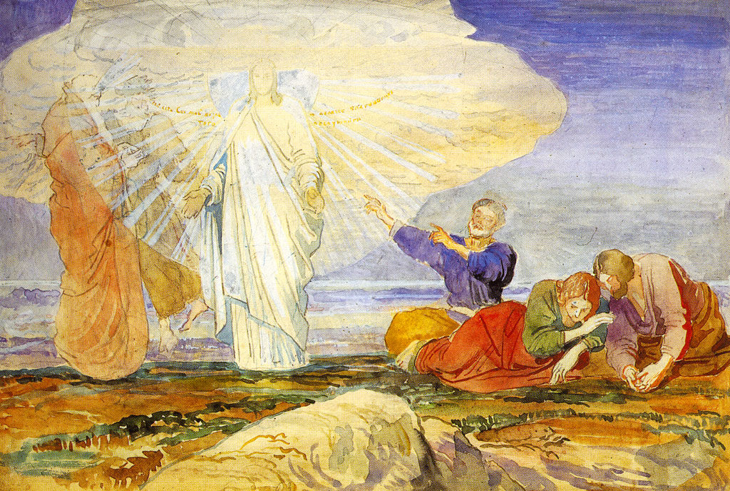 Transfiguration Jesus Moses Elijah Peter James John