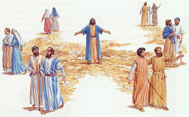 Jesus-sending-out-disciples-2-by-2